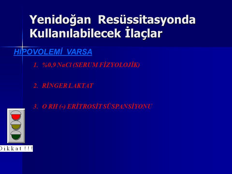 Yenidoğan Resüssitasyonda Kullanılabilecek İlaçlar