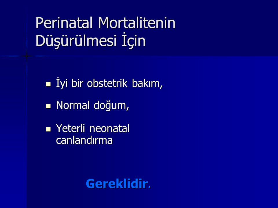 Perinatal Mortalitenin Düşürülmesi İçin