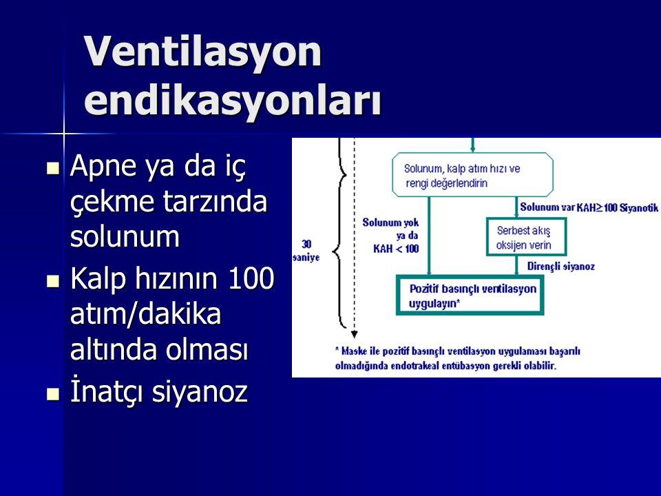 Ventilasyon endikasyonları