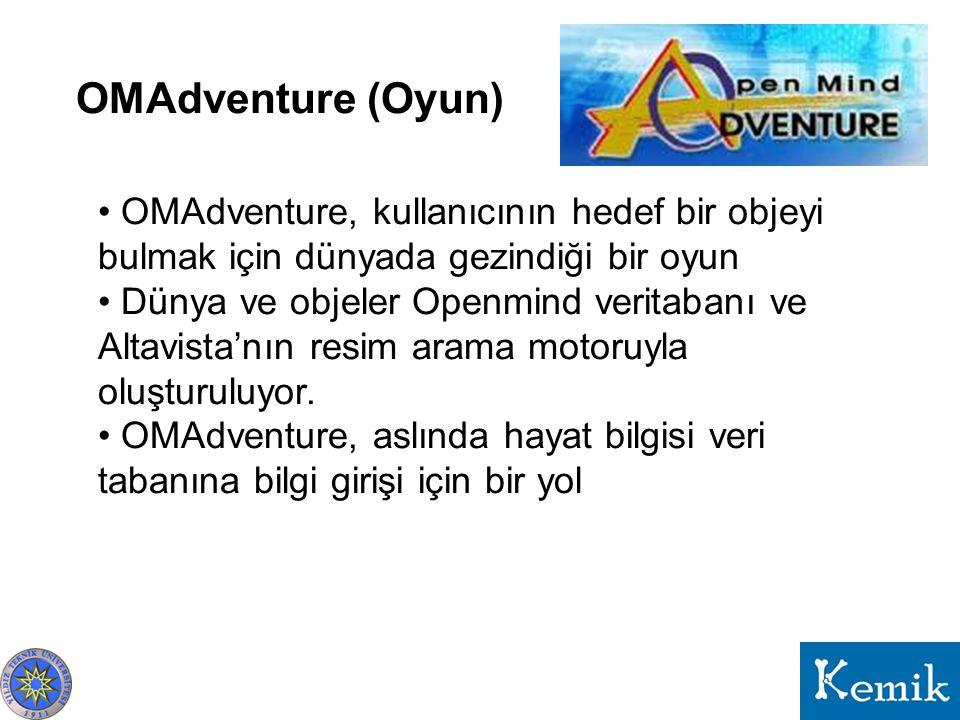 OMAdventure (Oyun) OMAdventure, kullanıcının hedef bir objeyi bulmak için dünyada gezindiği bir oyun.