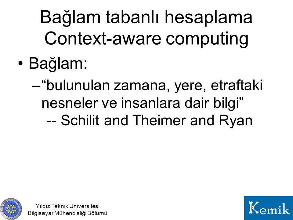 Bağlam tabanlı hesaplama Context-aware computing