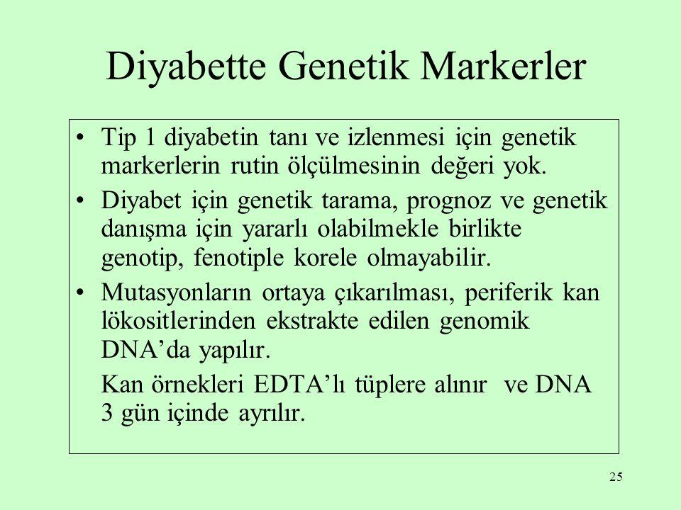 Diyabette Genetik Markerler