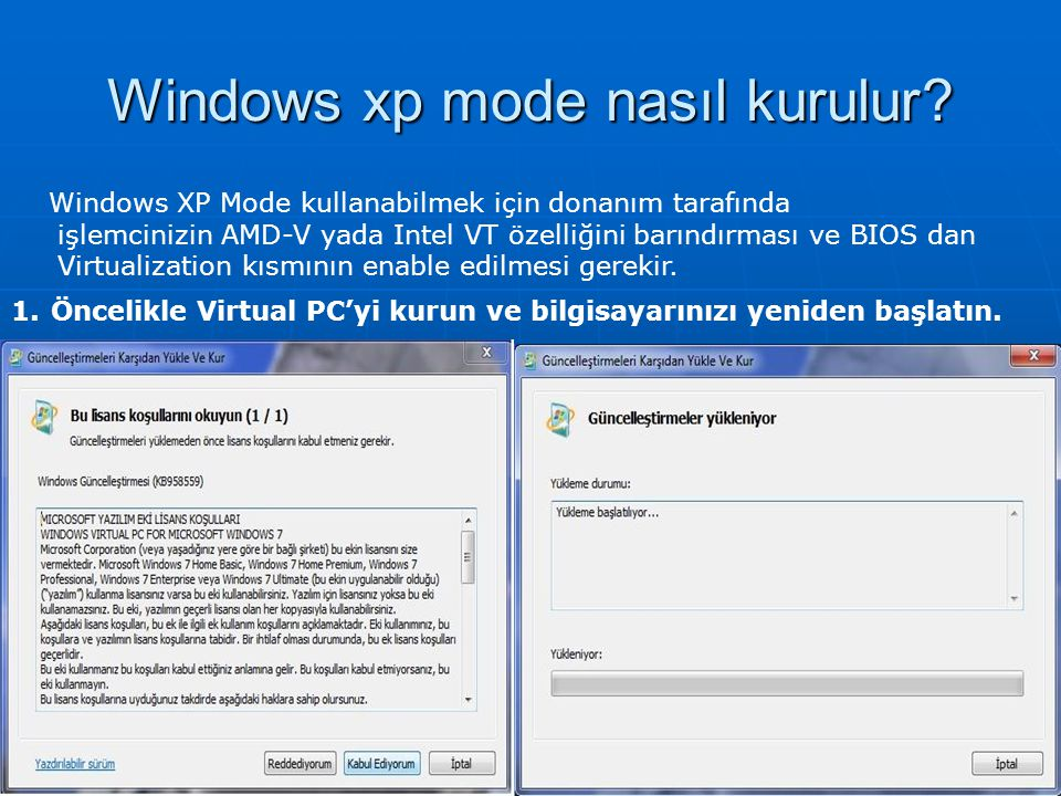 Windows xp mode nasıl kurulur