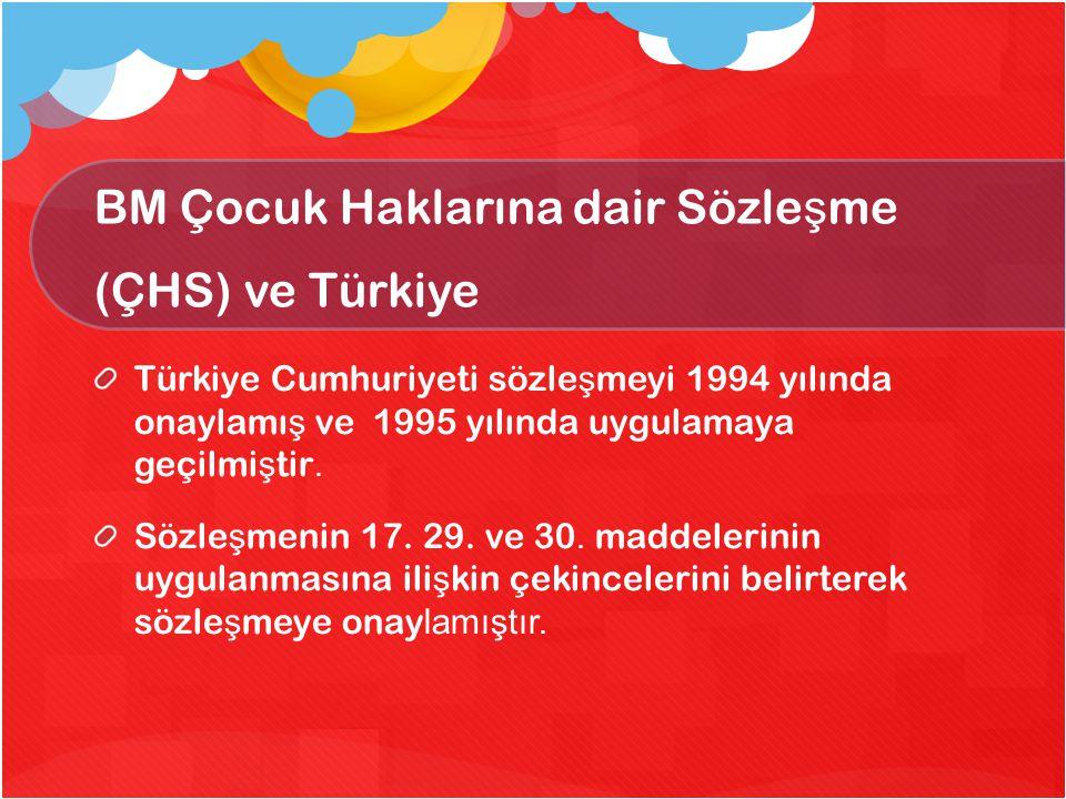 BM Çocuk Haklarına dair Sözleşme (ÇHS) ve Türkiye