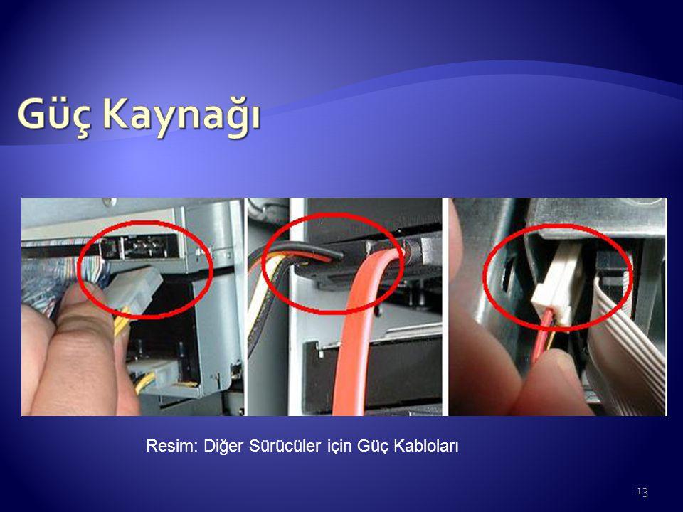 Güç Kaynağı Resim: Diğer Sürücüler için Güç Kabloları