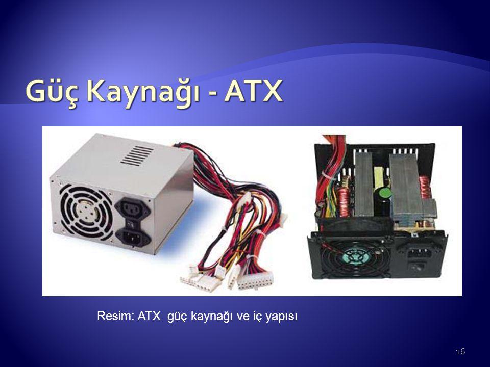 Güç Kaynağı - ATX Resim: ATX güç kaynağı ve iç yapısı