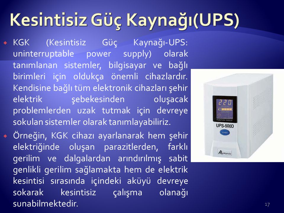 Kesintisiz Güç Kaynağı(UPS)