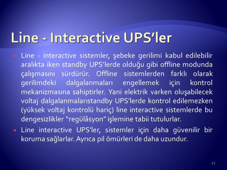 Line - Interactive UPS'ler