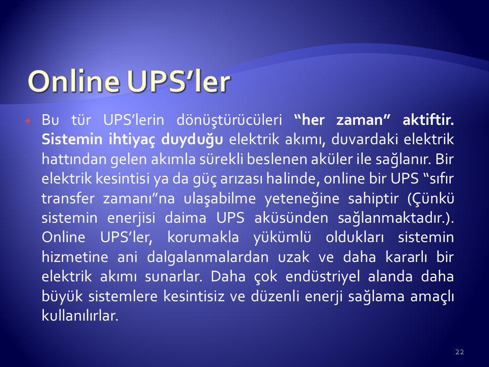 Online UPS'ler