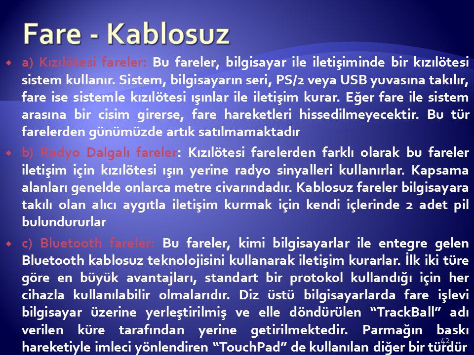 Fare - Kablosuz