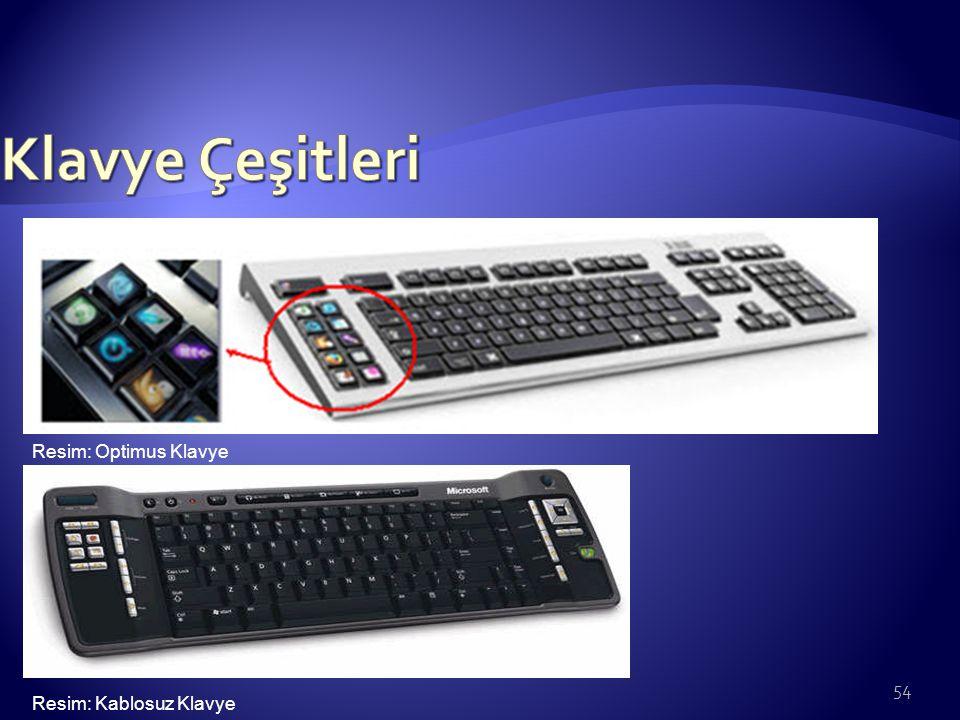 Klavye Çeşitleri Resim: Optimus Klavye Resim: Kablosuz Klavye