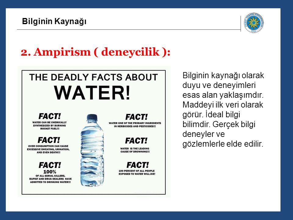 2. Ampirism ( deneycilik ):