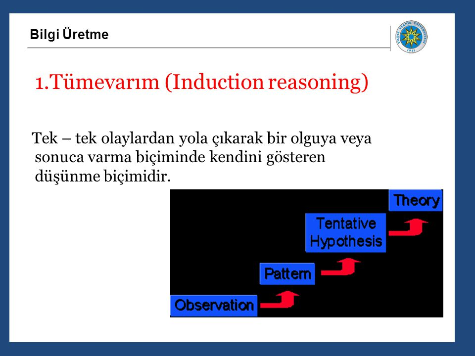 1.Tümevarım (Induction reasoning)