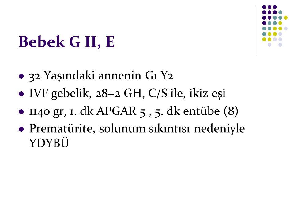 Bebek G II, E 32 Yaşındaki annenin G1 Y2