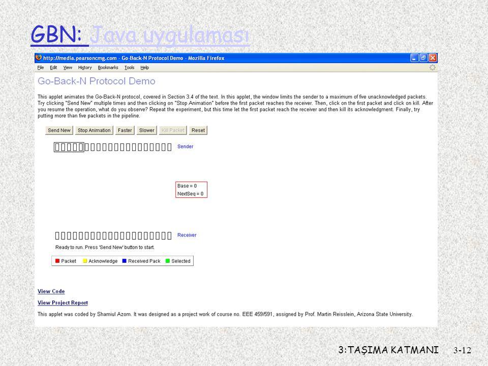 GBN: Java uygulaması 3:TAŞIMA KATMANI