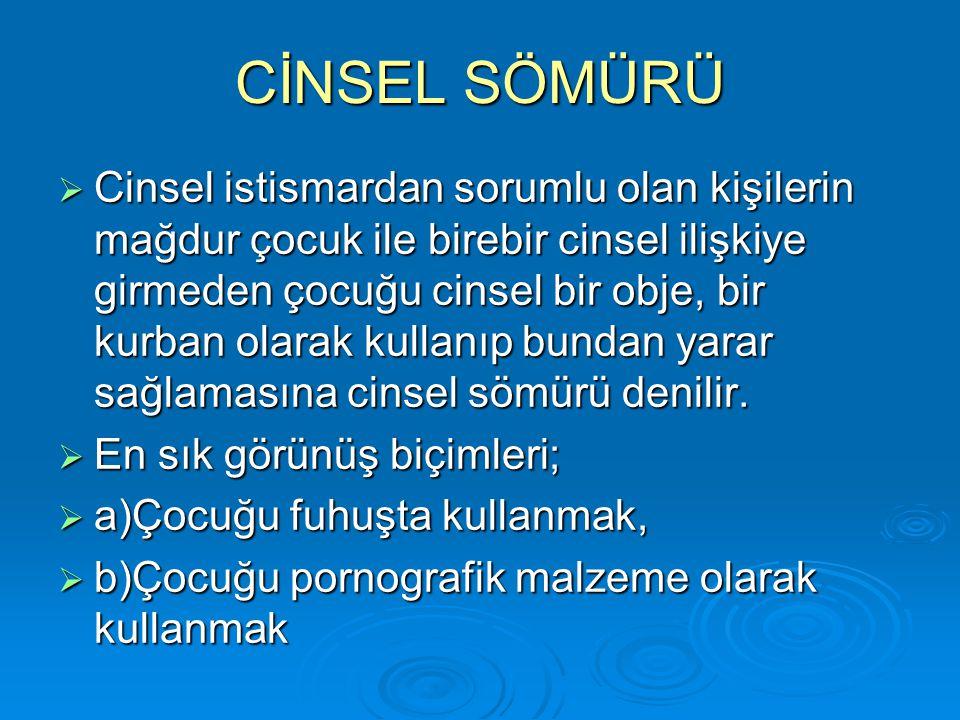 CİNSEL SÖMÜRÜ
