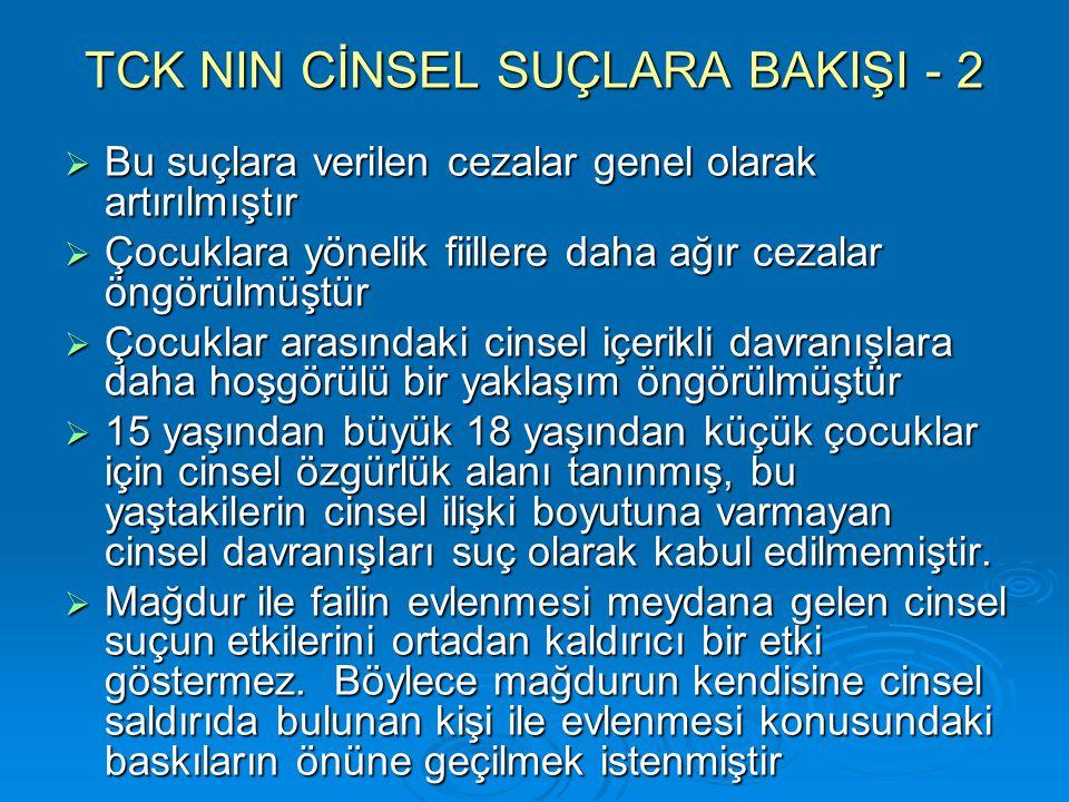 TCK NIN CİNSEL SUÇLARA BAKIŞI - 2