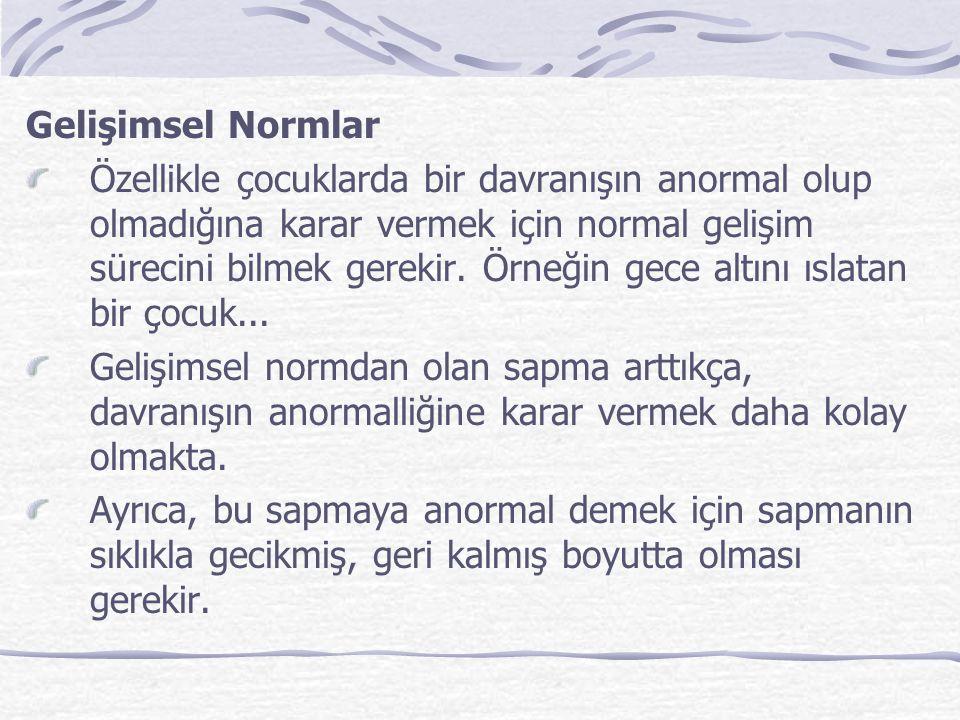 Gelişimsel Normlar