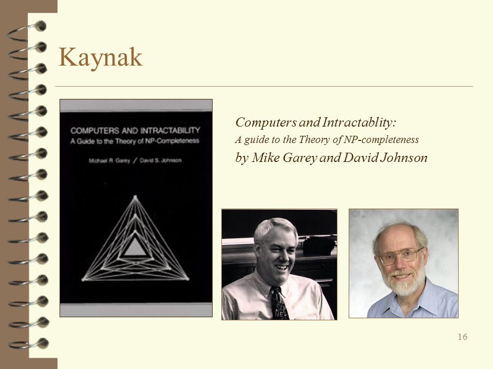 Kaynak Computers and Intractablity: by Mike Garey and David Johnson
