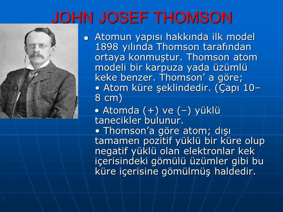 JOHN JOSEF THOMSON