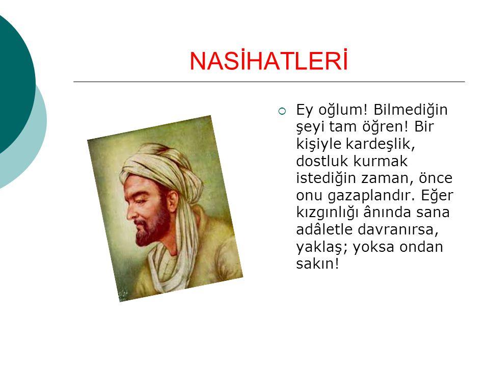 NASİHATLERİ