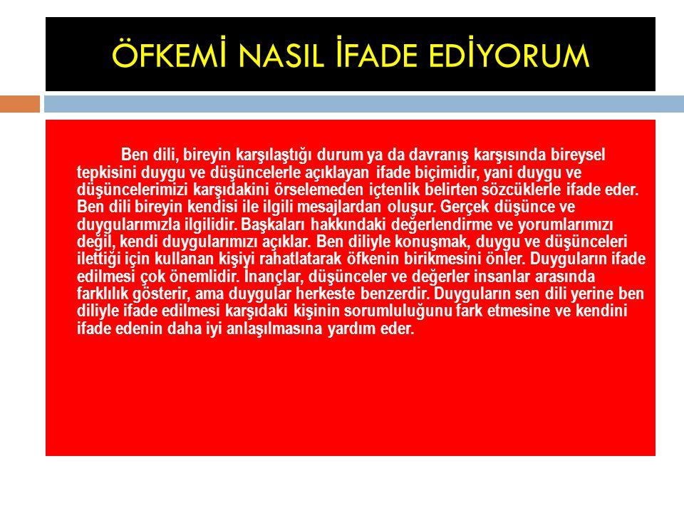 ÖFKEMİ NASIL İFADE EDİYORUM