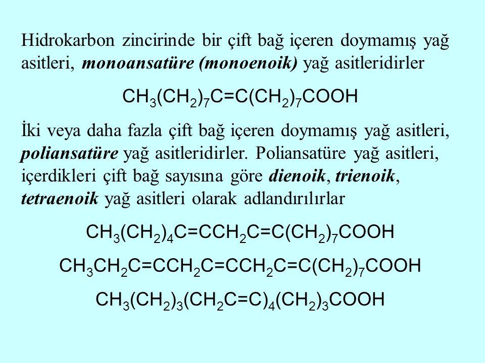 CH3(CH2)4C=CCH2C=C(CH2)7COOH CH3CH2C=CCH2C=CCH2C=C(CH2)7COOH