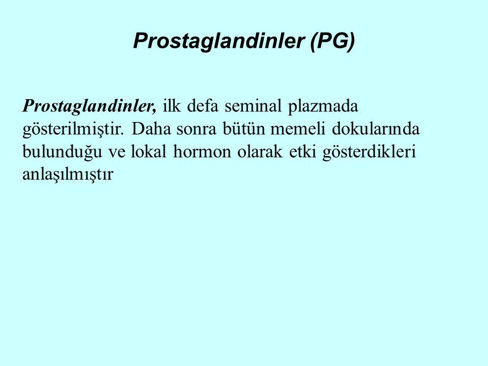 Prostaglandinler (PG)