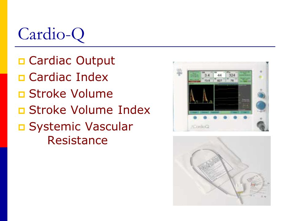 Cardio-Q Cardiac Output Cardiac Index Stroke Volume