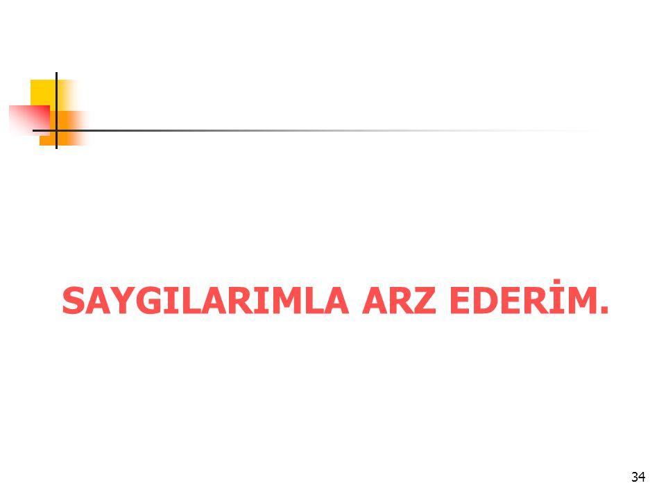 SAYGILARIMLA ARZ EDERİM.