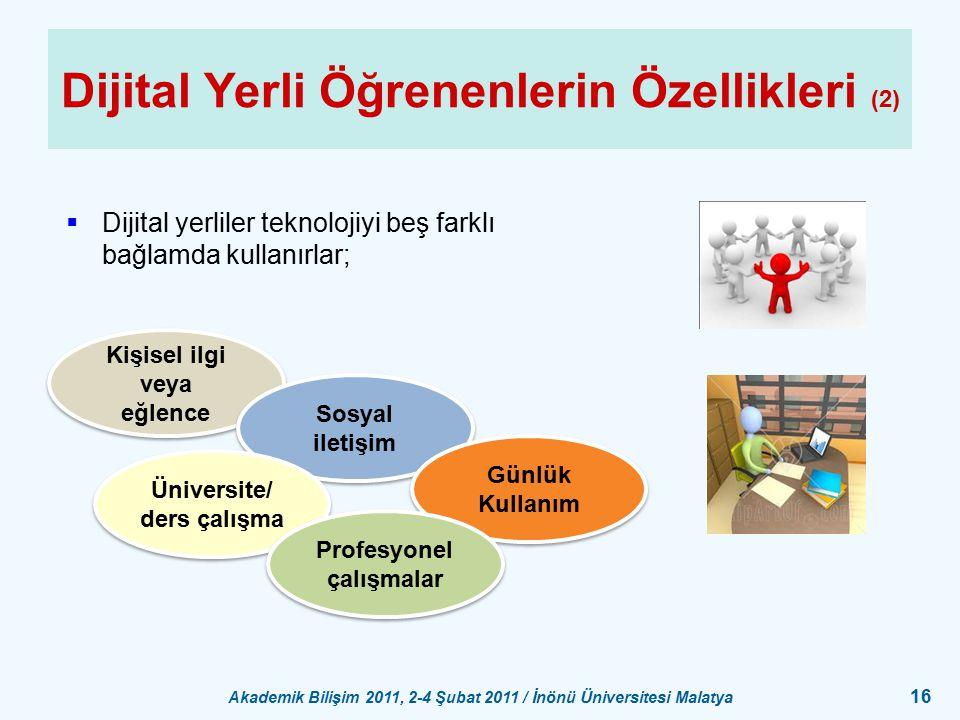 Dijital Yerli Öğrenenlerin Özellikleri (2)