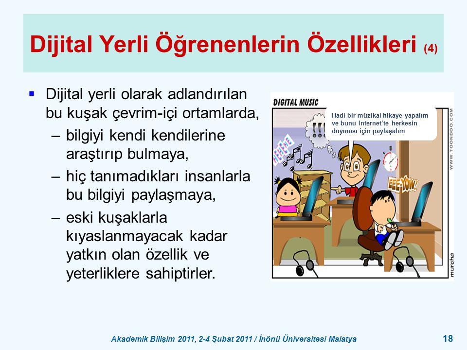 Dijital Yerli Öğrenenlerin Özellikleri (4)