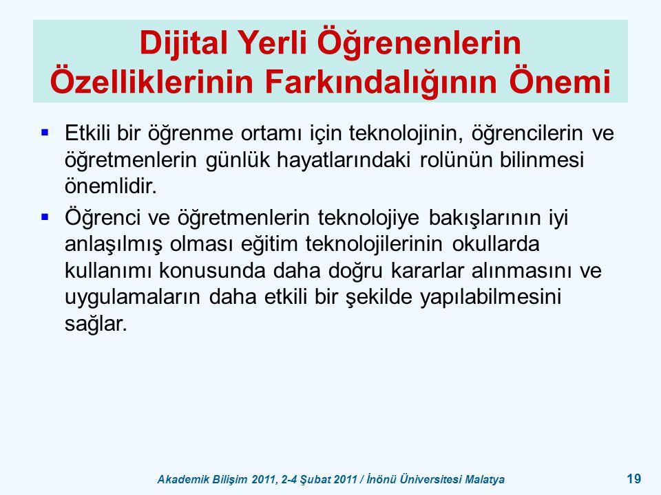 Dijital Yerli Öğrenenlerin Özelliklerinin Farkındalığının Önemi