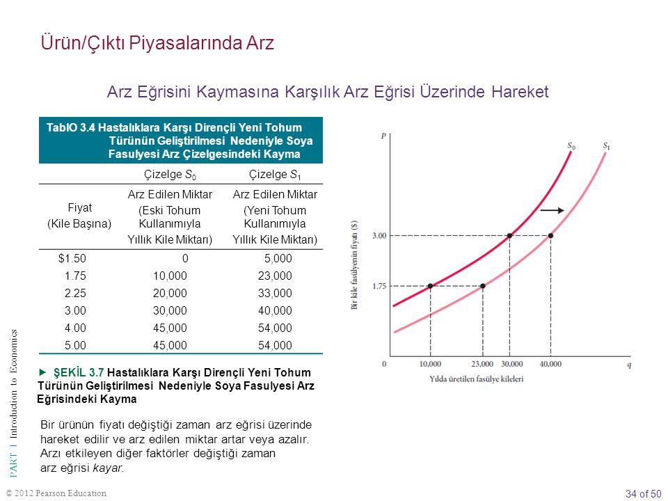 Ürün/Çıktı Piyasalarında Arz