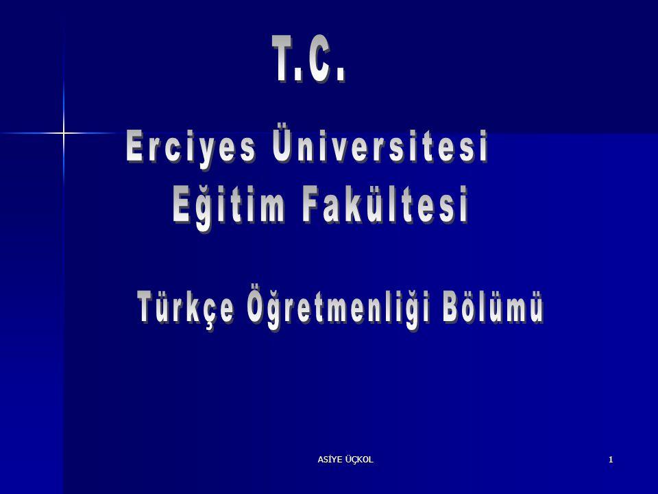 Türkçe Öğretmenliği Bölümü
