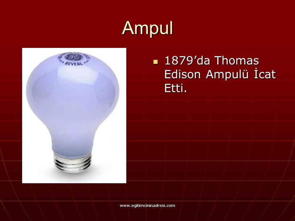 Ampul 1879'da Thomas Edison Ampulü İcat Etti.