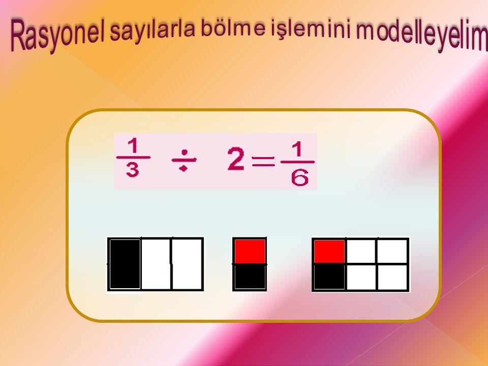 Rasyonel sayılarla bölme işlemini modelleyelim