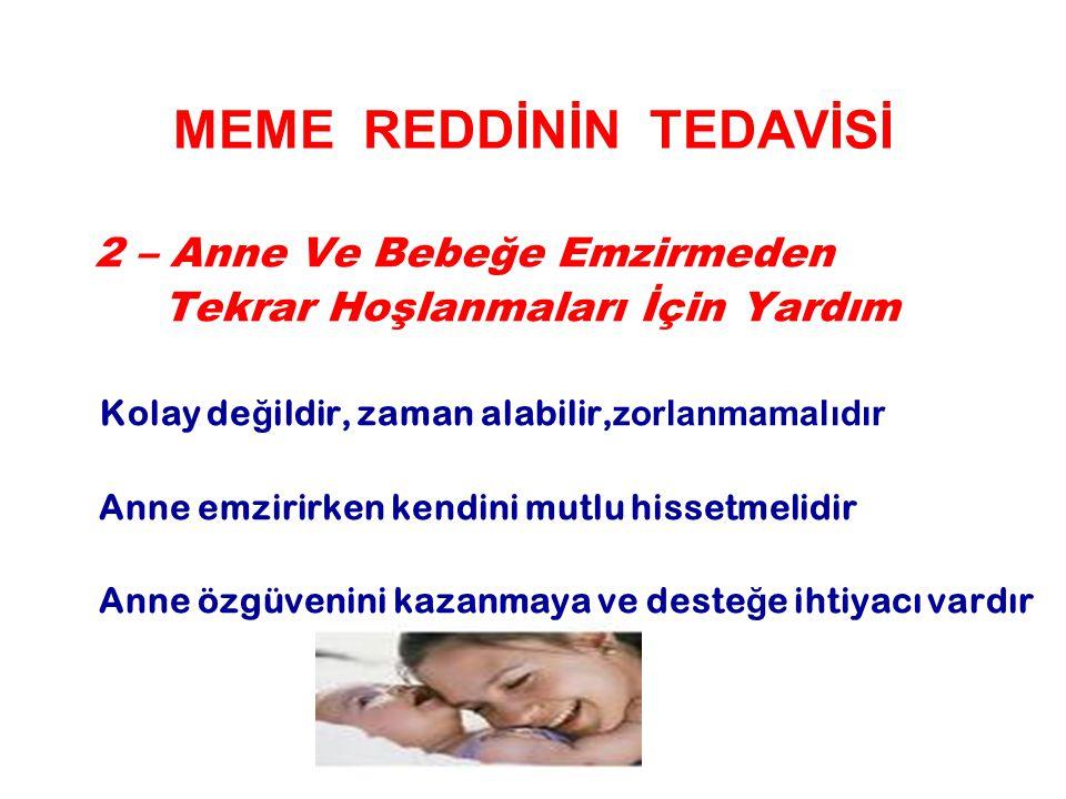 MEME REDDİNİN TEDAVİSİ