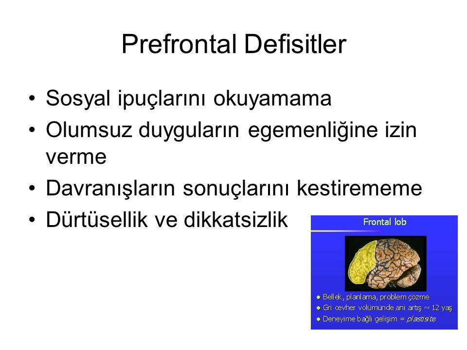 Prefrontal Defisitler