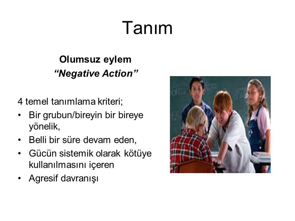 Tanım Olumsuz eylem Negative Action 4 temel tanımlama kriteri;