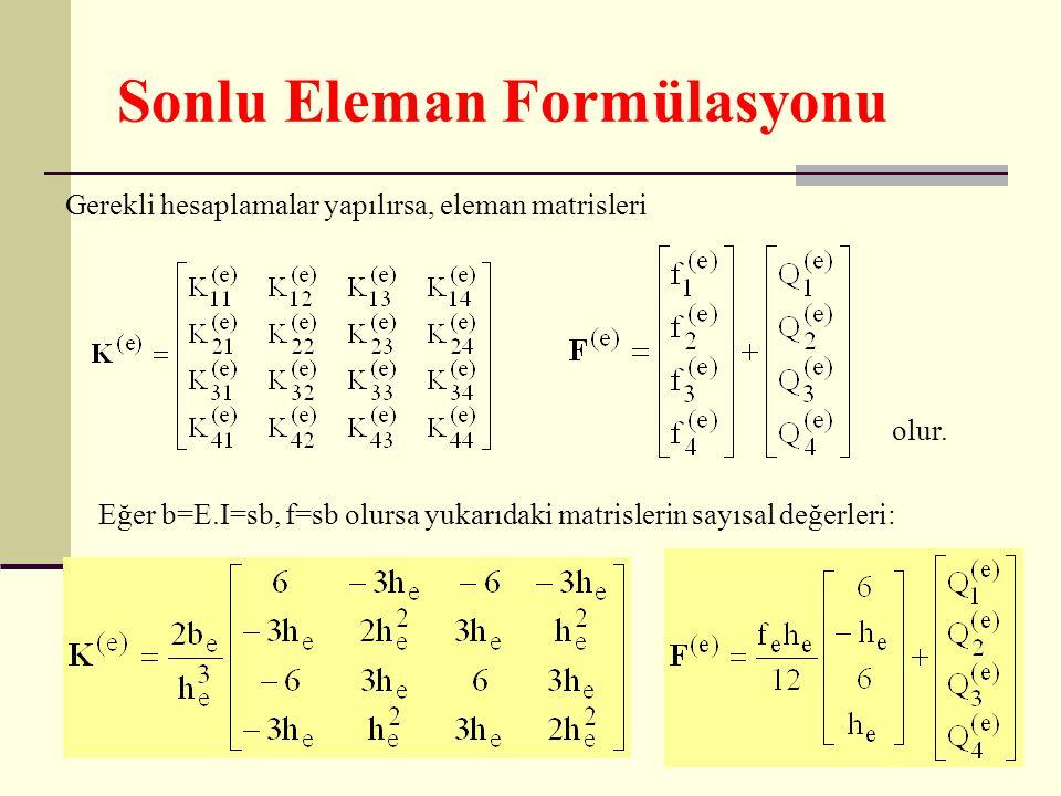 Sonlu Eleman Formülasyonu