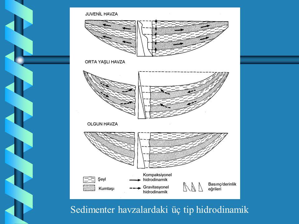 Sedimenter havzalardaki üç tip hidrodinamik