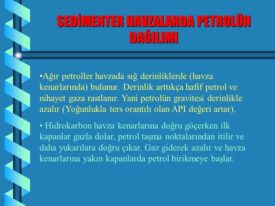 SEDİMENTER HAVZALARDA PETROLÜN DAĞILIMI