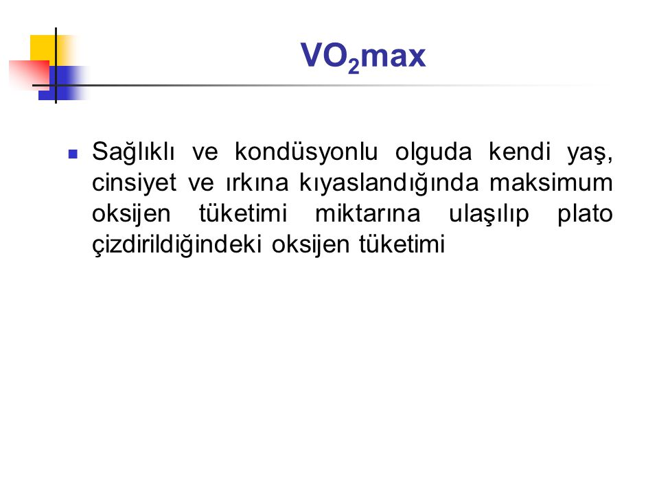VO2max