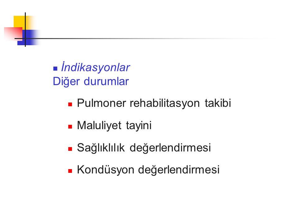Pulmoner rehabilitasyon takibi Maluliyet tayini