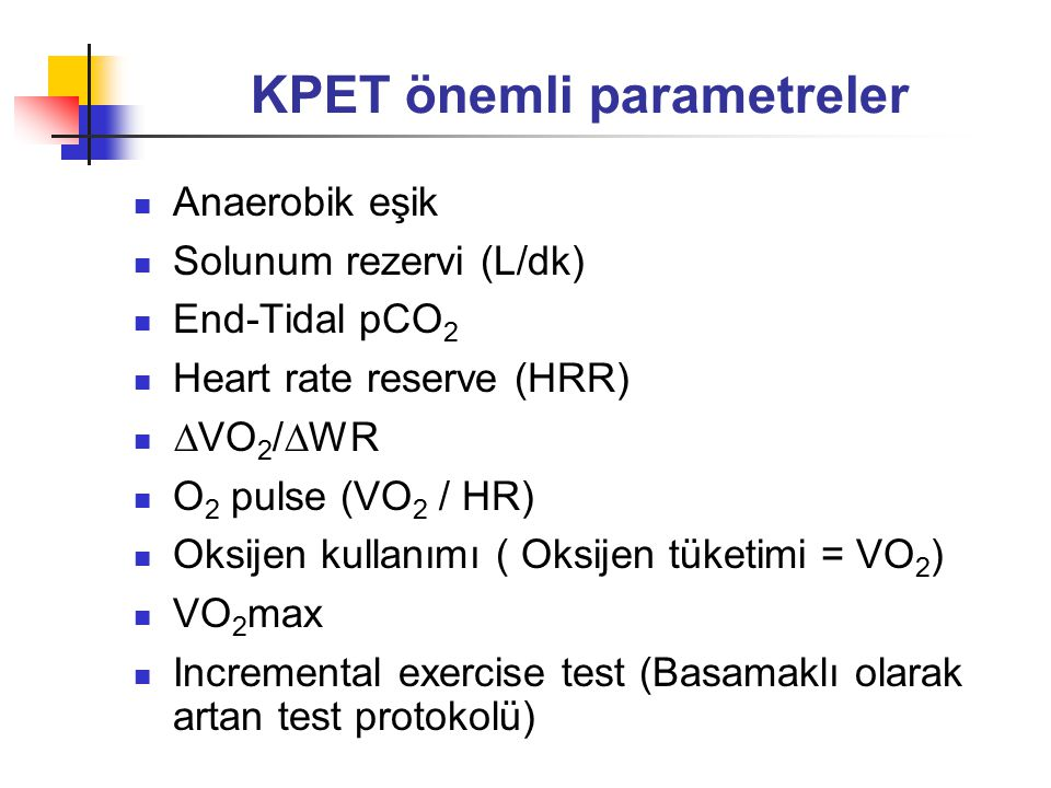 KPET önemli parametreler