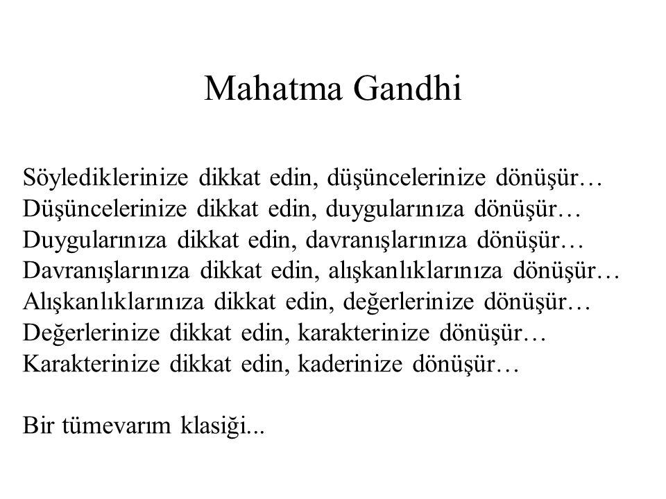 Mahatma Gandhi Söylediklerinize dikkat edin, düşüncelerinize dönüşür…