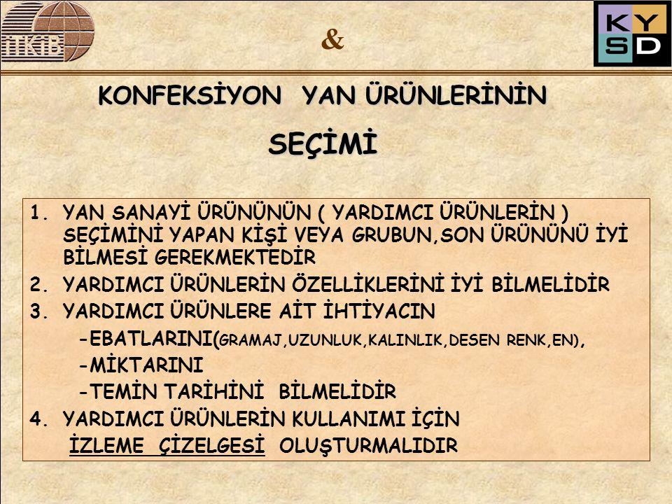 & SEÇİMİ KONFEKSİYON YAN ÜRÜNLERİNİN