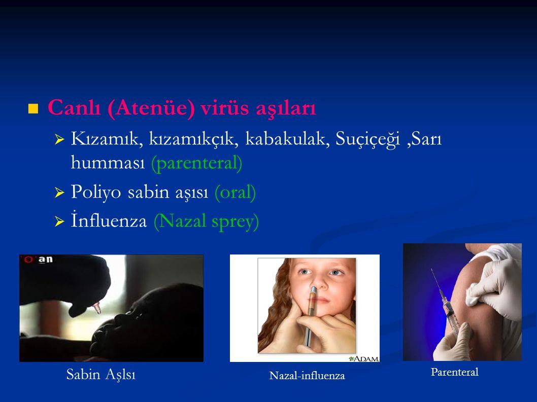 Canlı (Atenüe) virüs aşıları