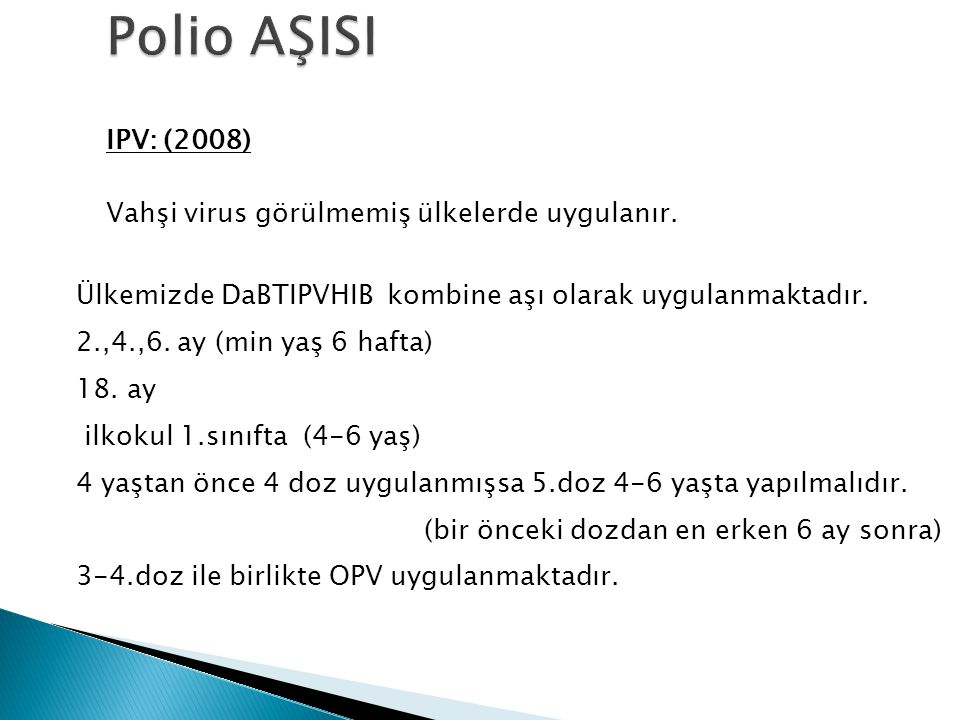 Polio AŞISI